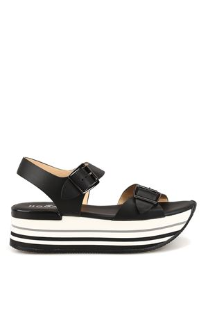 Maxi H222 black sandals HOGAN | 5032241 | HXW2940AA40IWEB999