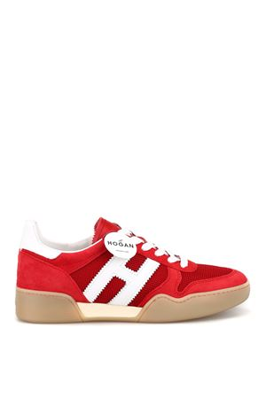 Suede and tech fabric retro volley sneakers 