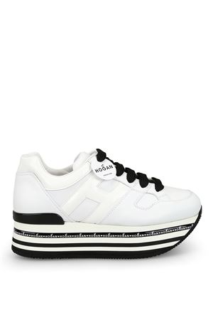 H413 oversized white leather sneakers HOGAN scarpe | 120000001 | HXW4130T548I6SB001