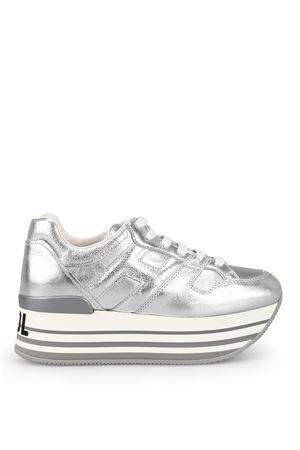 Stay Cool metallic leather maxi sole sneakers HOGAN | 120000001 | HXW4250T548IK1B200