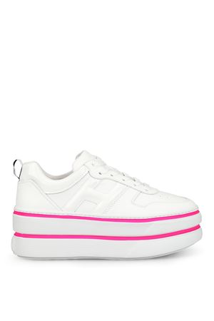 H449 oversized white leather sneakers HOGAN | 120000001 | GYW4490BS00I6S9997