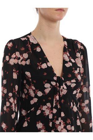 Knot detail rose print georgette blouse MICHAEL DI MICHAEL KORS | 40 | MH84LN2AFR616