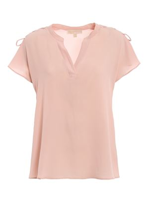 Blusa rosa in crepe con cordoncini MH84LNT4YP696 MICHAEL DI MICHAEL KORS | 40 | MH84LNT4YP696