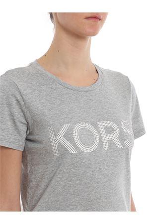 Studded Kors logo grey cotton T-shirt  MICHAEL DI MICHAEL KORS | 8 | MH85M2Y97J036