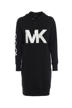 Studded MK logo hoodie-style dress  MICHAEL DI MICHAEL KORS | -108764232 | MH88YUX97F099