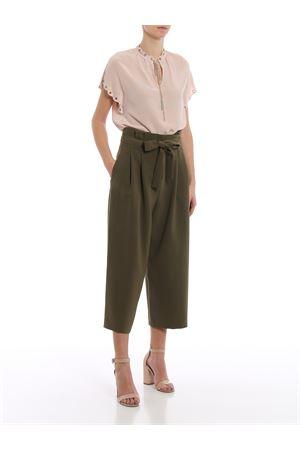 Silk crepe blouse with chain and eyelets  MICHAEL DI MICHAEL KORS | 40 | MU84LK996K696