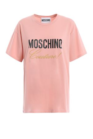 Moschino Couture! pink cotton T-shirt 