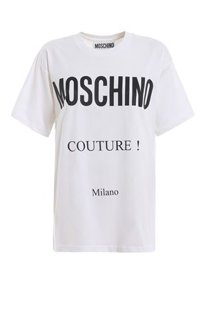Logo lettering print white T-shirt MOSCHINO | 8 | 07090540A2001