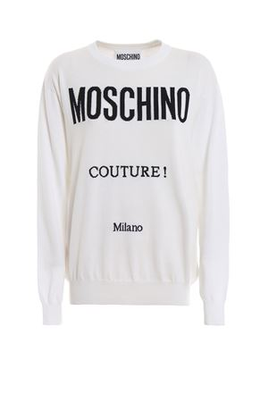 Logo intarsia cotton sweater MOSCHINO | 7 | 09070504A2001