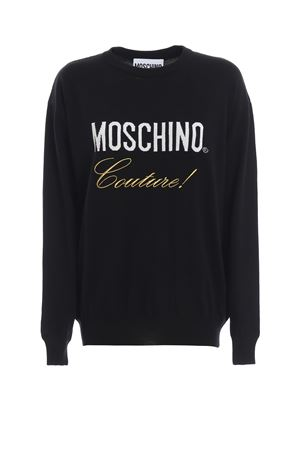 Logo intarsia black wool sweater MOSCHINO | 7 | 09190500A1555