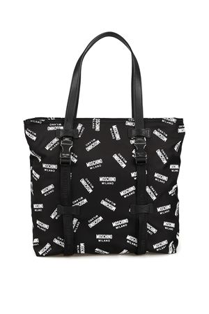All over logo print unstructured tote 