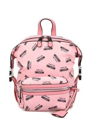 All over logo print unstructured backpack MOSCHINO | 10000008 | 76178204B1224