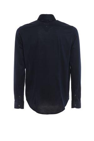 NAVY BLUE COTTON JERSEY LONG SLEEVE SHIRT PAOLO FIORILLO CAPRI | 6 | 6012074001598