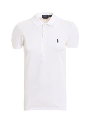 Polo slim fit in cotone bianco 211505654011 POLO RALPH LAUREN | 7 | 211505654011