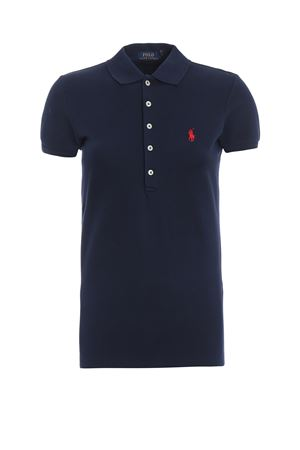 Polo slim fit in cotone blu scuro 211505654111 POLO RALPH LAUREN | 7 | 211505654111