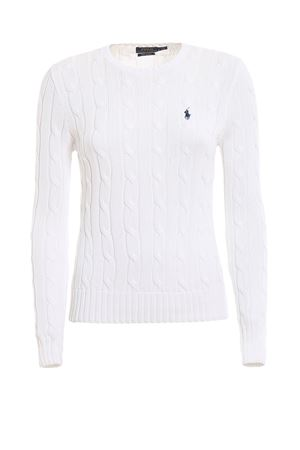 White twist knit cotton sweater POLO RALPH LAUREN | 7 | 211580009005