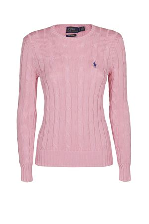Pink twist knit cotton sweater POLO RALPH LAUREN | 7 | 211580009063