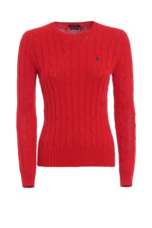 Red twist knit cotton sweater POLO RALPH LAUREN | 7 | 211580009064