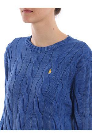 Cable knit melange blue cotton sweater  POLO RALPH LAUREN | -108764232 | 211706244008