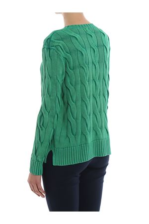Cable knit green cotton sweater POLO RALPH LAUREN | -108764232 | 211706244009