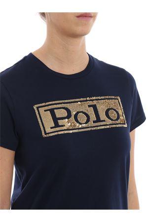 Sequinned blue cotton T-shirt POLO RALPH LAUREN | 7 | 211732286002