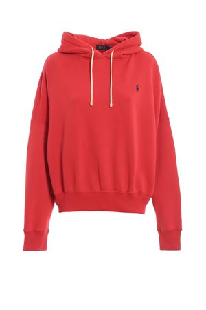 Red cotton blend logo hoodie POLO RALPH LAUREN | 7 | 211732814002