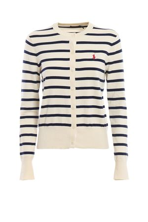 Cardigan a righe in misto cotone 211738057001 POLO RALPH LAUREN | -108764232 | 211738057001