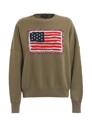 American flag cotton sweatshirt POLO RALPH LAUREN | -108764232 | 211744523001