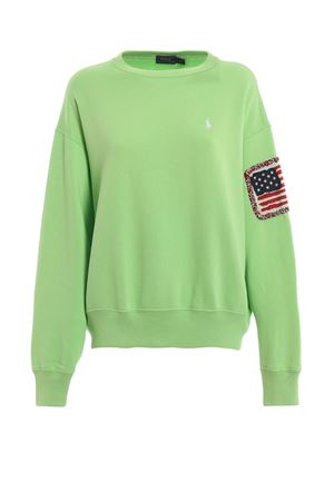 American flag cotton sweatshirt POLO RALPH LAUREN | -108764232 | 211744524001