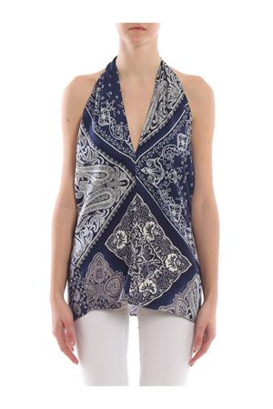 Top patchwork con stampa bandana 211754539001 POLO RALPH LAUREN | 30 | 211754539001