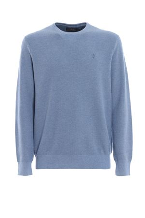 Light blue Pima cotton crewneck