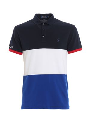 Multicolour piquet cotton polo shirt