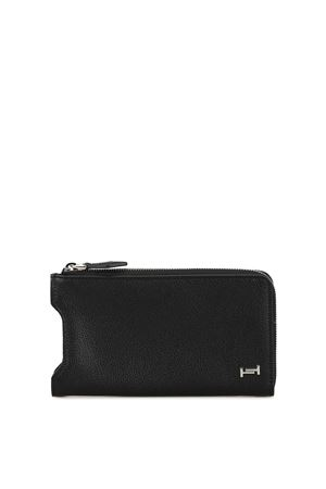 Calfskin wallet with cell phone pocket TOD