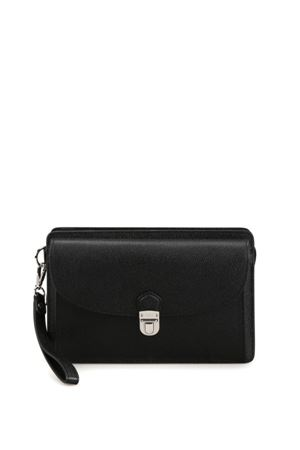 Black leather document case TOD