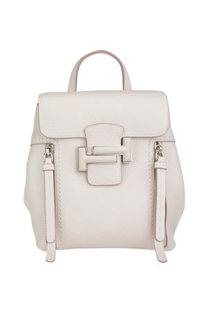 Double T light pink leather backpack