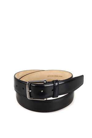 Dark blue leather belt  TOD
