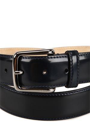 Cintura in pelle liscia blu scura XCMCP610100KRWU820 TOD