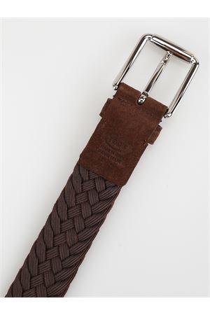 Cintura intrecciata in pelle scamosciata TOD