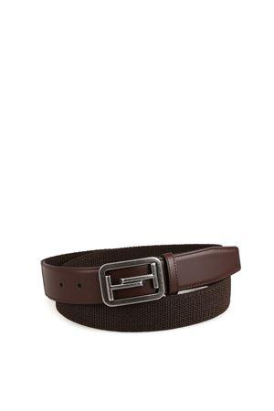 Double T ebony brown elasticated belt TOD