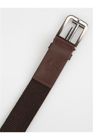 Double T ebony brown elasticated belt