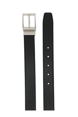 Logo detail black leather belt TOD