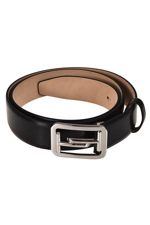 Black brushed leather belt TOD