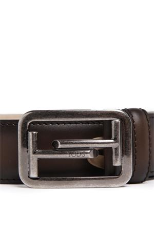 Double T buckle leather belt TOD
