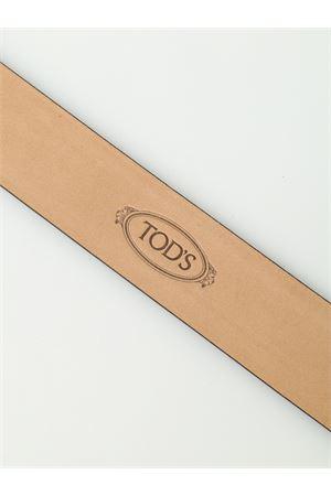 Double T buckle matte leather belt TOD