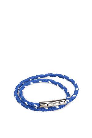 Braided leather double wrap bracelet TOD