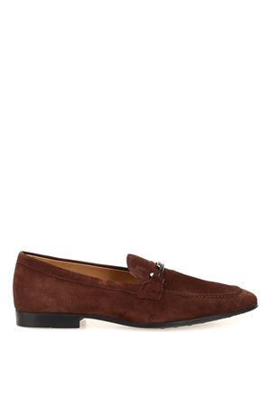 Double T suede loafers 