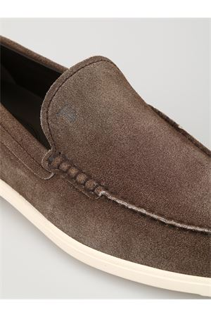 Shaded suede casual loafers 