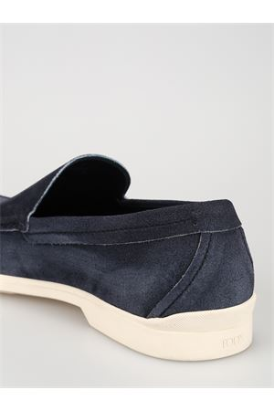 Blue shaded suede casual loafers 