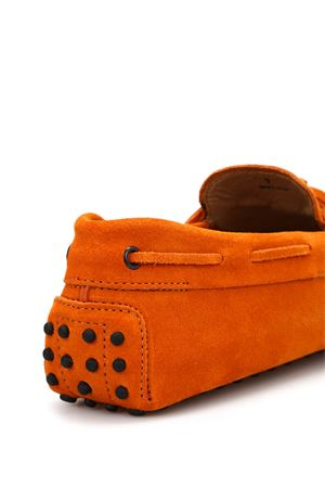 Lace detail suede loafers TOD
