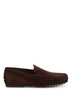 City Gommino dark brown suede loafers 